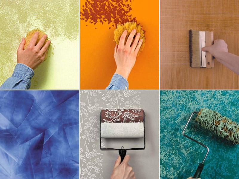 tecniche pittura casa fai da te