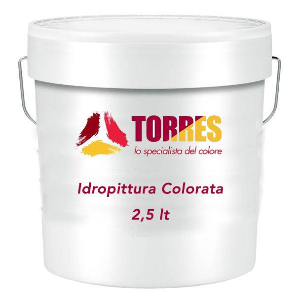 idropittura colorata per interni 2,5 litri