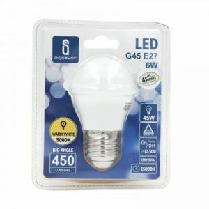 Aigostar Serie A5, lampadina LED a goccia da 6W = 45W, attacco E27, luce bianca 3000K bianco caldo, classe A+