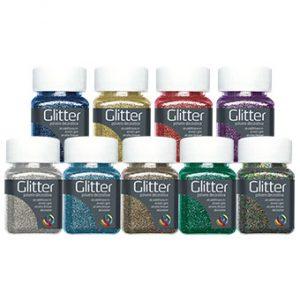 Glitter decorativi colorati... Scegli tra Viola, Blu e Rosso